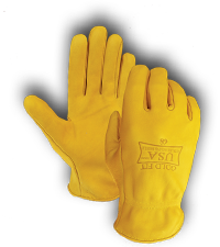 Golden Stag Brown Jersey Unlined Gloves for Kids